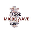 microwave ovens healthfulness of microwaved food vector image vector image