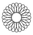monochrome circular strokes forming flower vector image vector image