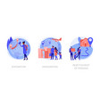 population mobility human migration abstract vector image vector image