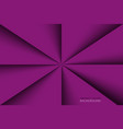 purple triangles background with shadows violet vector image vector image