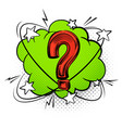 question mark into speech bubble comic decorative vector image