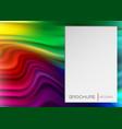 rainbow banner liquid shape template vector image