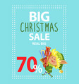 real big christmas sale elf hold boxes with gifts vector image vector image
