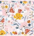 seamless floral pattern creative flower texture vector image vector image