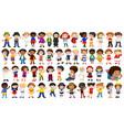 set international kids character vector image