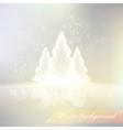 shiny winter background vector image