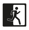 sign safe condition emergency exit vector image vector image