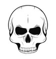 skull in monochrome and vintage tattoo style vector image vector image
