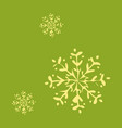snowflake icon sign design red background vector image vector image