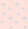 subtle seamless pattern with drawn florals vector image vector image