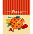 template of Pizza menu vector image vector image