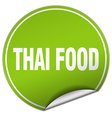 thai food round green sticker isolated on white vector image vector image