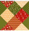 traditional ornament patchwork pattern seamless vector image vector image
