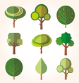Tree Collection of design elements vector image vector image