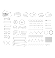 Ultimate design elements blog kit For your vector image vector image