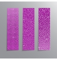 Vertical set Pink sequins banners Glitter vector image vector image
