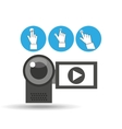 video camera device icon vector image