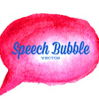 watercolor drawn red speech bubble vector image vector image