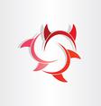 devil horns abstract symbol vector image