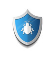 shield icon with beetle virus protection and vector image