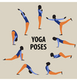 Yoga poses set Gymnastics for healthy lifestyle vector image