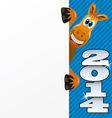 2014 new year of a horse vector image vector image
