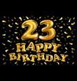 23 years golden anniversary logo celebration