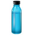 A blue medical bottle with a cover vector image vector image