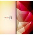 Abstract geometric polygonal shiny background vector image vector image