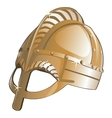 Ancient metal helmet from Sparta vector image vector image