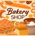 bakery pastry baker shop bread baked food vector image vector image