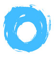 blue brushstroke circle form vector image vector image