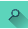 Blue search icon Flat design vector image