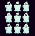 cartoon spooky ghosts with different emotions vector image