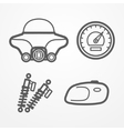 Classic motorcycle icons vector image vector image