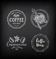 Coffee restaurant cafe badges template design vector image vector image