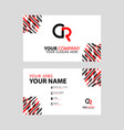 cr logo letter with box decoration on edge vector image vector image