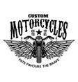 custom motorcycles winged motorbike on white vector image vector image