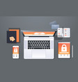 data protection internet security padlock privacy vector image vector image