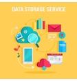 Data Storage Service Banner vector image vector image