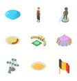 deutschland icons set isometric style vector image vector image
