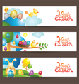 Easter Background and Banner vector image vector image