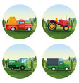 farm set of cartoons vector image