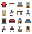 furniture color vector image