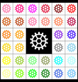 gear sign felt-pen 33 colorful icons at vector image vector image
