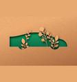 green electric car paper cut eco friendly concept vector image