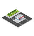 isometric 3d shop vector image