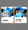 layout poster template design for sport event vector image vector image