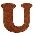 Leather textured letter u vector | Price: 1 Credit (USD $1)