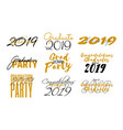 lettering set for graduation class 2019 vector image vector image